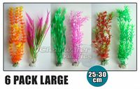 6 Pack Mixed Aquarium Plastic Plants 25-30cm